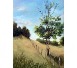 Over the Hill - original oil painting rural country landscape