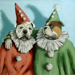 Party Animals - Dog portrait fantasy painting