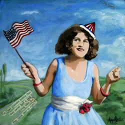 Patriotic Pat - party views mixed media figurative art