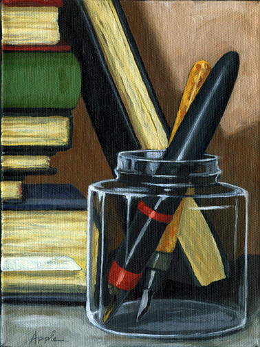 Reading and Writing - Pens & Books still life