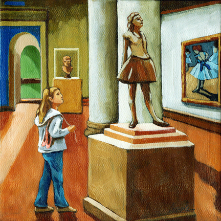 Possibilities - little girl and Degas
