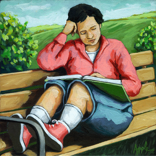 PRINT AVAILABLE -Moments Alone - Contemporary Figurative