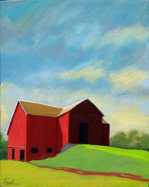 Red Barn - contemporary Ohio landscape