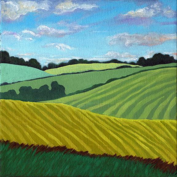 Summer Fields - contemporary landscape