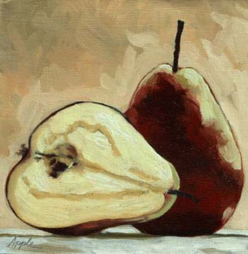 Sliced Red Pears