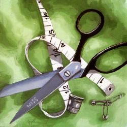 Measure and Cut - old scissors sewing still life