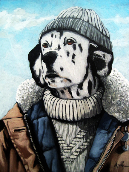 SeaDog - Dalmatian dog portrait oil painting