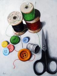 Sewing Memories 2 realistic still life