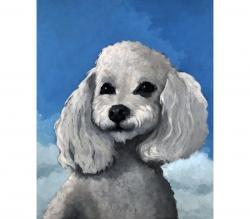 Sherman - commissioned dog portrait