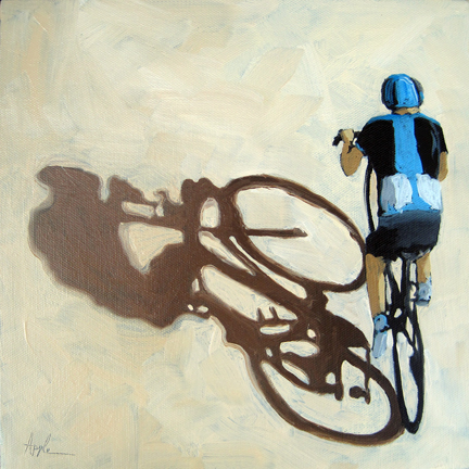 Single Focus Tour de France bicycle oil painting