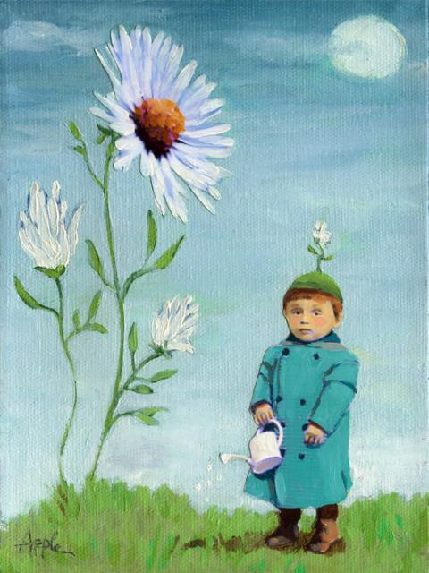 Green Thumb - Figurative oil painting