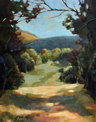 Backroad - original landscape oil painting