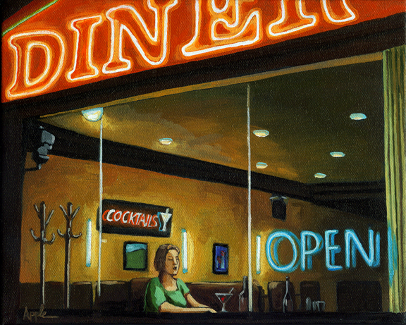 PRINT AVAILABLE - The City Diner - Figurative City