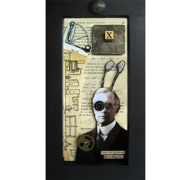 "The ""X"" Factor - found object assemblage/ collage"