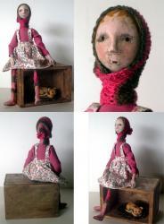 Tillie and Yum Yum - OOAK art doll sculpture