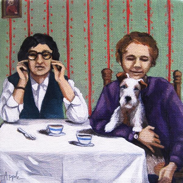 Afternoon Tea figurative oil painting