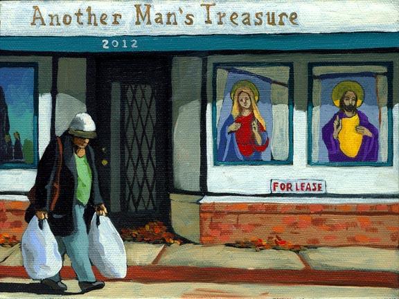 Treasures - woman on street