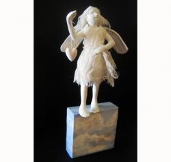 True Heart angel art doll sculpture wall art