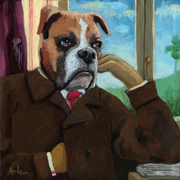 "Walt ""Wit""man - dog fantasy portrait"