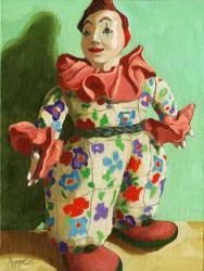 The War Clown - antique doll