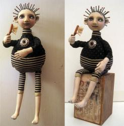 Wilfred goth boy art doll sculpture