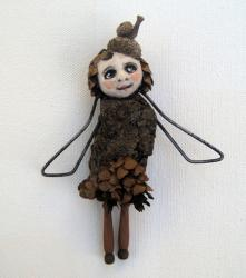 Woodland Fairy - found object nature sculpture