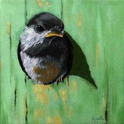A Bright New Day- baby chickadee