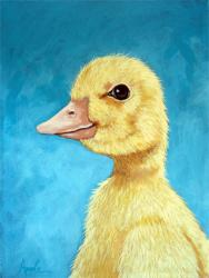 Baby Duckling - spring farm animal